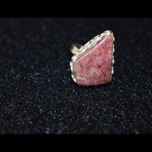 Rhodochrosite Ring Size 8 1/2